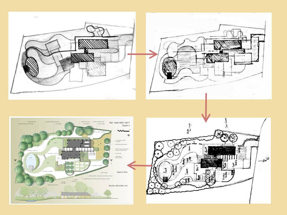 "Sketch Plan Development - ""Sussex Downland Garden"""