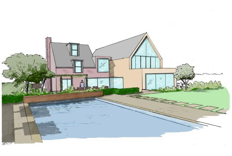 Large Garden Design Surrey