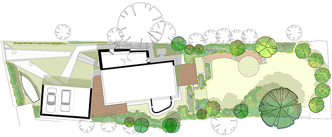 Garden design for coastal garden in Cornwall