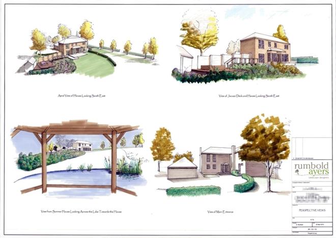 Garden Perspective Views By Landscape Designer Near Bath
