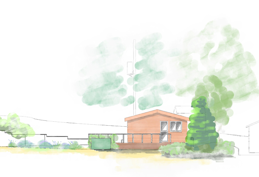 Landscape drawing for planning permission